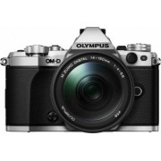 Aparat Foto Mirrorless Olympus E-M5 Mark II silver + EZ-M1415 II black