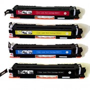 Compatible HP 126A Color CP1020 CP1025NW Toner E310A CE311A CE312A CE313A Cartridges Combo - 4 Pack (BCMY)