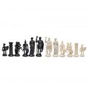 Piese de șah figurine romane negru/crem (fără contragreutate)