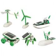 Peacock Emob Educational 6 in 1 Solar Power Energy Robot Toy Kit White/Green Toys
