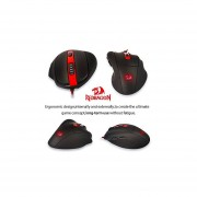 Redragon M605 Smilodon Gaming Mouse, 2000DPI 6 Buttons Ergonomic Wired Optical Mouse