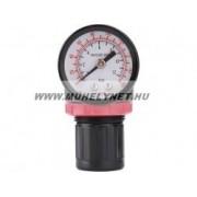 Reduktor levegõ nyomásszabályzó mérõórával 8 bar max.