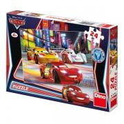 Puzzle - Cars in cursa de noapte (24 piese)