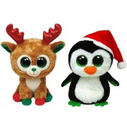 Ty Beanie Boos Igloo The Penguin And Alpine The Reindeer Holiday Set Of 2 Plush Toys