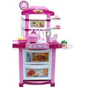 Cocina de juguete - Cocina moderna con la luz, el sonido, hervidor de agua y un montón de accesorios - Mi primera cocina - Mini Kitchen - PINK