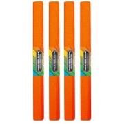 Krepp papír 50x200cm, egyszínű, narancs