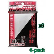 6x 100ct Kmc Perfect Size Double Sleeve Card Sleeves