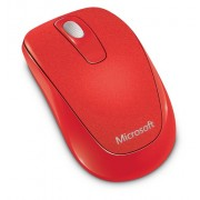 Microsoft 1000 Wireless Mobile Mouse, Flame Red (2CF-00041)
