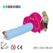 Tenda da gioco elefante 287x122 x94 cm con tunnel pop up per bambini Linea Cigioki