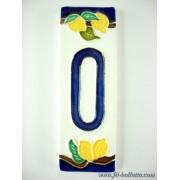 Numero civico ceramica con limoni nl10