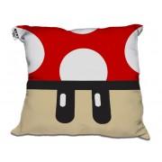 Almofada Decorativa Cogumelo Vermelho +1 UP do Mario