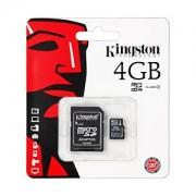 Card de Memorie Kingston micro SDHC Card 4GB + SD Adapter