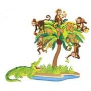 Five Monkeys Sitting In A Tree Precut Felt Figures for Flannel Board Stories by Little Folk Visuals