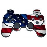 247Skins - Skin para mando de Playstation 3, diseño de bandera estadounidense