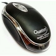 Quantum QHM222 USB Mouse (BLACK) WIRED FOR LAPTOPS AND DESKTOPS