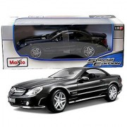 Maisto Year 2014 Special Edition Series 1:18 Scale Die Cast Car Set - Black Color Roadster MERCEDES-BENZ SL65 AMG with D