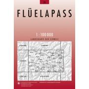 Fietskaart - Topografische kaart - Wegenkaart - landkaart 39 Flüelapass | Swisstopo