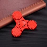 Wheel Gears Multifunction Fidget Spinner Anti-Anxiety Toy avec Nombre de jeux et fonctions de jeu de boissons, environ 2 minutes de rotation, 608 Roulement de perles d acier + matériau ABS, 3 feuilles d engrenages (Rouge)