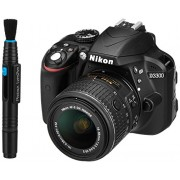 Nikon D3300 24.2 MP Digital SLR Camera (Black) with 18-55mm VR II Lens Kit with 8GB Card and Camera Bag + Photron Lenspen Lens Optical Cleaner with Unique Carbon Cleaning Compound