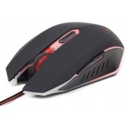 Mouse GEMBIRD Gaming (MUSG-001-R), 2400dpi, USB, red