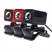 Usb 4LED 2.0 12 m hd cam web câmera com visão noturna grau mic clip-on para 360 skype desktop do computador laptop pc