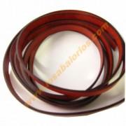 Cuero plano 10 mm color rojo (precio por 20 cm)