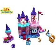 Little Treasures Princess Blocks Toy set build a magnificent castle with 95 pieces of DIY building blocks interlocking b