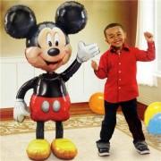 Balon urias folie metalizata Air-Walker Mickey Mouse 96 x 132 cm