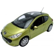 Peugeot 207 Green 1:18 Diecast Car Model Norev