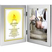 Godchild Baptism or Christening Gift from Godfather - Godchild Baptism Keepsake - Room for Photo
