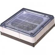 Solitech Wartungsfreier Solar Pflasterstein 20x20cm mit LED weiss