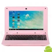 """V712 10"""" Screen Android 4.0 Netbook w/ Wi-Fi / RJ45 / Camera / HDMI / SD Slot - Pink"""