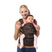 ECOSUSI 100% Cotton Cute Design Hip Seat Baby Carrier Front and Back Carrier with Waist Stool