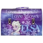 "Disneys Frozen, Elsa The ""Snow Queen"" Purple Paper Storage Tool Box, Extra Small"