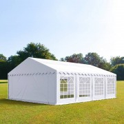 Profizelt24 Partyzelt 5x8m PVC weiß Gartenzelt, Festzelt, Pavillon