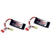 Venom 30C 3S 1500Mah 11.1V Lipo Battery Pack For Airsoft With Mini Tamiya 2 Packs
