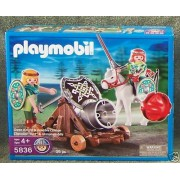 Playmobil Green with Knight Movable Cannon