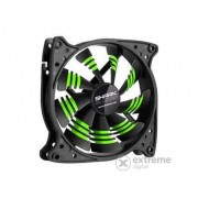 Ventilator Sharkoon Cooler Blades Green 12cm, negru-dungi verzi