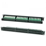 Accesoriu pentru rack: LanKATT Patch Panel cat6 UTP 48 x RJ45 – 1U cu suport de cabluri