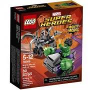 Конструктор Лего Супер Хироус - Могъщите микро: Хълк срещу Ултрон - LEGO Marvel Super Heroes, 76066