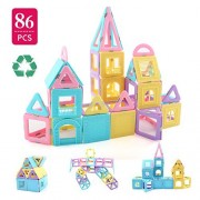 Children Hub 86pcs Magnetic Building Blocks Set: With Different Shapes To Build A Castle - Educational Building Toys For Your Kids