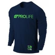 Camisa Prolife para Jet Ski Proteção Solar Azul