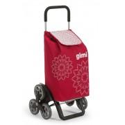 Gimi Tris lépcsőjáró bevásárlókocsi Floral red - 145101