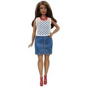 Barbie DPX68 - Fashionistas 32 Jeans e Pizzo, Multicolore