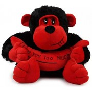 AVS Soft Monkey With Banana (Red/Black Color) 30 CM