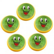 MagiDeal 5 Pieces Kids Magic Slime Toys Dust Cleaning Glue Slimy Gel for Keyboard Laptop Car Clear Smiling Face Green