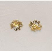 Floricele 10mm in unghi Placate cu Aur 18 Kt
