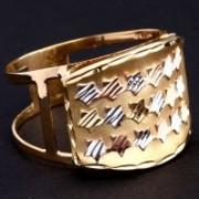 Anel Estrela de Três Cores, Ouro Amarelo, Ouro Vermelho e Ouro Branco