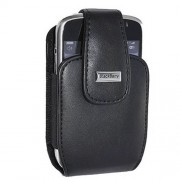 SahiBUY Leather Case Holster with Swivel Clip for Blackberry Curve 8300 8310 8320 8330 (Black)