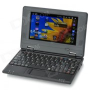 """7 """"TFT LCD de Windows CE 6.0 VIA8650 ARM11 Netbook con ranura para tarjeta WiFi/RJ45/USB 2.0/SD - Negro"""